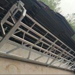 zlp630 / 800 ll -muotoinen alumiiniseos, teräsrakenteinen jalkakäytävärakennus rakennusten ikkunoissa